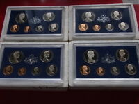 Australia. Proof Sets : 1973,1974,1975 & 1976.. With Certs & (dated) foams.  (4)