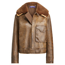 Ralph Lauren Collection 50th Anniversary Rare Grayden Leather Jacket / Coat NWT