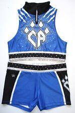 New listing Cheer Athletics AL Cheerleading Uniform Zip It Up Rebel Adult Large Rhinestones