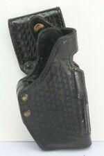 Gould & Goodrich B720A-G17W Leather Anti-Grab Duty Holster, Black Weave. RH.