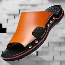 Beach Mens Slip On Casual Leather Sandals Shoes Outdoor Slingbacks Slippers Chic