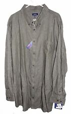 Men's Croft & Barrow Olive Green Long Sleeve Casual Denim Shirt - Size 4XB - NWT
