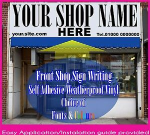 3500mmX600mm Large Lettering Vinyl Sign Writing Self Adhesive Front Shop Graphic