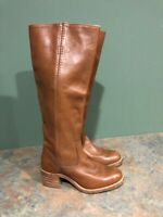 FRYE WOMEN'S BROWN 6505 LEATHER BOOTS SIZE 5.5B