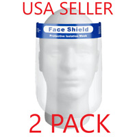 2 Pieces - Safety Full Face Shield Clear Protector Anti-Fog
