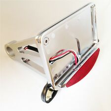 Side Mounted License Plate Assembly Chrome Led Tail Brake Light
