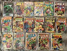 The Incredible Hulk Comic Book Lot Bronze Copper and Modern Age 17 Comics Total