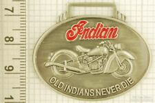 Sturdy key chain with a silver-plated & enamel Indian Motorcycles shield