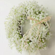 Simulation Gypsophila Flower Wreath Hanging Home Shop Wedding Venue Decor