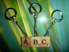SCRABBLE KEYRING ART KEYCHAIN CUSTOM UNIQUE GIFT CHOOSE YOUR LETTER  FREE POST