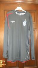 MENS FOOTBALL SHIRT - ENGLAND - GOALKEEPER - XL - UMBRO - 2005/07 - LONG SLEEVES