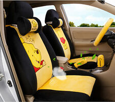 ** 18 Piece Yellow Winnie the Pooh Car Seat Covers **