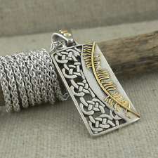 Sterling Silver Celtic Knot & 18K Ogham Courage Pendant Keith Jack  Jewelry