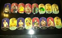 WWE Lot of 16 Topps Ringside Relic Dog Tags Authentic Event Used Shirt Pieces A2