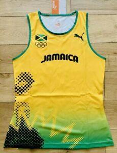 Puma Pro Elite Jamaica Women's 2012 London Olympic Competition Singlet Vest M