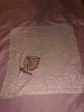 Vintage Arizona Souvenir Handkerchief w/ Indian in Headdress
