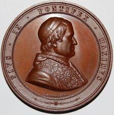 1846-POPE PIUS IX INVESTITURE BRONZE MEDAL