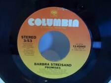 """Promises/Make it Like a Memory BARBRA STREISAND 45 7"""" Vinyl Record COL 11-02065"""