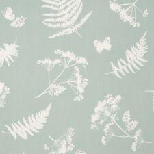 Clarke and Clarke Moorland Aqua Leaf Design Curtain Upholstery Craft Fabric