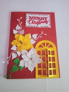Merry Christmas Handmade Greeting Card Christmas Card Gift for friend Creative