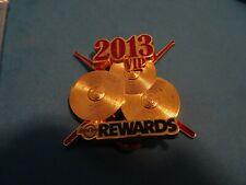 Hard Rock Cafe pin 2013 VIP Rewards Member pin cymbals & drum sticks