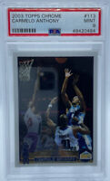2003-04 Topps Chrome CARMELO ANTHONY #113 Nuggets Rookie PSA 9 MINT! HOF!