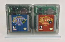 Legend of Zelda Oracle of Ages & Seasons Lot Nintendo Game Boy Color - SAVES