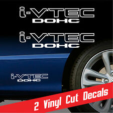 iVTEC DOHC 2X decal sticker vinyl *WHITE Honda civic Acura RSX VTEC STICKER