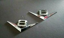 2 (Two) x Chrome V8 badges 115 x 45mm  zinc alloy metal Holden Ford Jeep  new