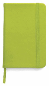 BLOCK NOTES,QUADERNO APPUNTI,rigido 100 pag f.to a6,x borsa-tascabile VERDE MELA