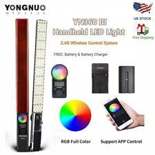 Yongnuo YN360 III Pro LED Video Light Handheld Stick Bar Bicolor 3200-5500K RGB