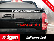 2014 2017 Toyota TUNDRA Tailgate REFLECTIVE Vinyl Letter Inserts Decals Stickers