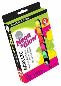 Daler Rowney Simply Neon & Leuchtende Acryl Malset 6 X 12ml