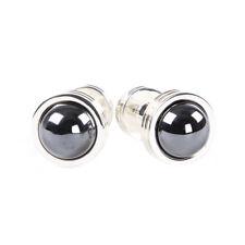 TIFFANY & CO. Sterling Silver Hematite Groove Cufflinks $500 NEW