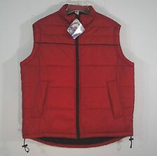 Marlboro Guts Grit Gear 2003 Red Insulated Quilted Puffer Vest Jacket Adult S L