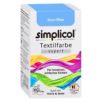 SIMPLICOL Textilfarbe EXPERT AZUR BLAU 150g Farbe auch für Wolle & Seide