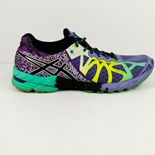 ASICS Gel Noosa Tri 9 Women's Size 11 US Running Shoes Purple Yellow Aqua T458Q