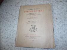 1913.Lettres inédites d'Alfred de Vigny à Delprat et de la Coudrée.Fortage