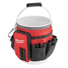 Milwaukee Bucket Organizer Tool Bag 32 Pocket Utility Garage Tools  Storage