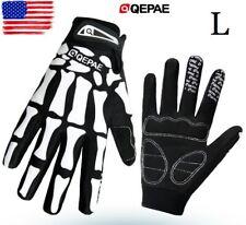 Qepae Full Finger Cycling Gloves men's Gel Padded Bike Bicycle MTB Glove Size L