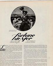 Coupure de presse Fortune de mer ,  Nouvelle de Arthur Conan DOYLE 1923