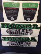 "CT70   ""Trail 150""  frame Decals Green, Silver  150cc Upgrade"
