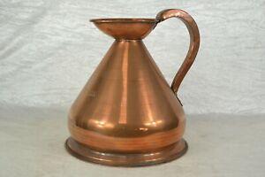 Antique Large Copper 1 Gallon Measuring Jug