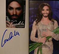 Conchita Wurst signiert Buch Musik Original Signatur Autogramm signed