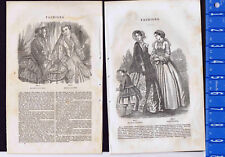 Toilette-De Ville-Bridal-Walking -Home-  1851 Sartain Fashion