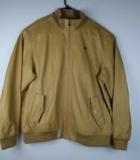 Lifted Research Group L-R-G Mustard Soft Yellow Leather Jacket Size 4XL LRG