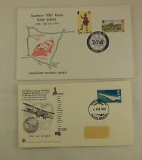 2 X First day covers First flight to Australia & Southern 100 Silver Jubilee IoM