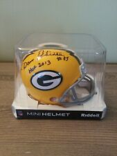 Green Bay Packers Dave Robinson Autographed Mini Helmet 2 Inscriptions
