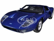 FORD GT BLUE 1:24 DIECAST MODEL CAR BY MOTORMAX 73297