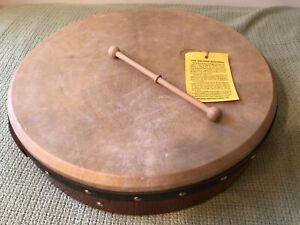 Vintage Waltons 18 Inch Pro Deluxe Bodhran Irish Drum & Beater - Made in Dublin
